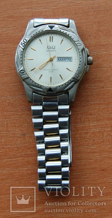 Часы Quartz--влагозащитные с браслетом, фото №2