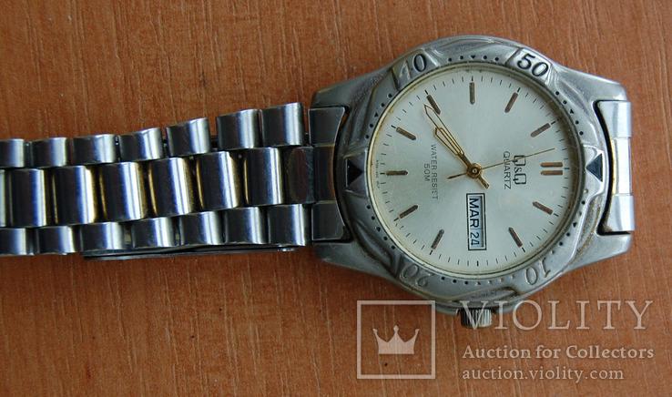 Часы Quartz--влагозащитные с браслетом, фото №3