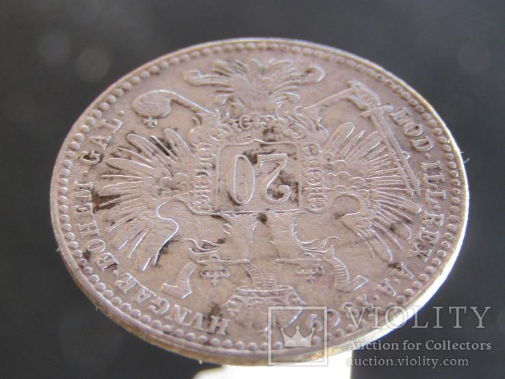 20 крейцеров 1869, фото №10