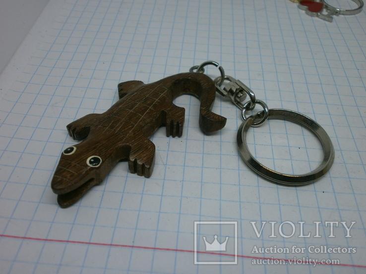 Брелок Крокодил. дерево, фото №2
