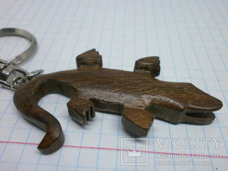 Брелок Крокодил. дерево, фото №4