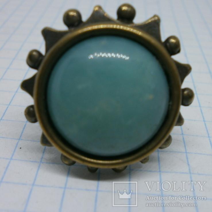 Фирменное кольцо с камнем Jan Michaels San Francisco. Камень натуральный, фото №3