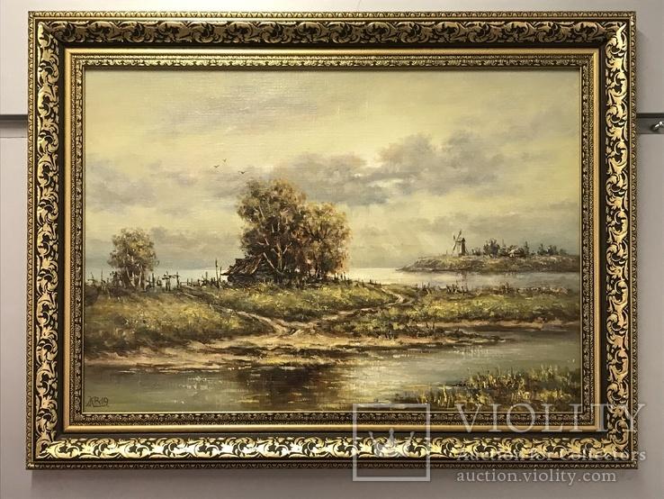 Картина холст,масло 35х50