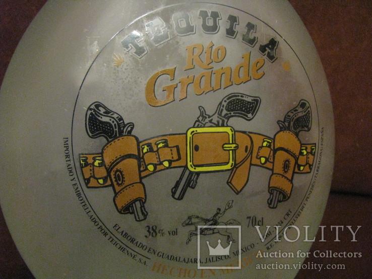 Коллекционная бутылка от текилы - Рио Гранде - 0,7 л., фото №5