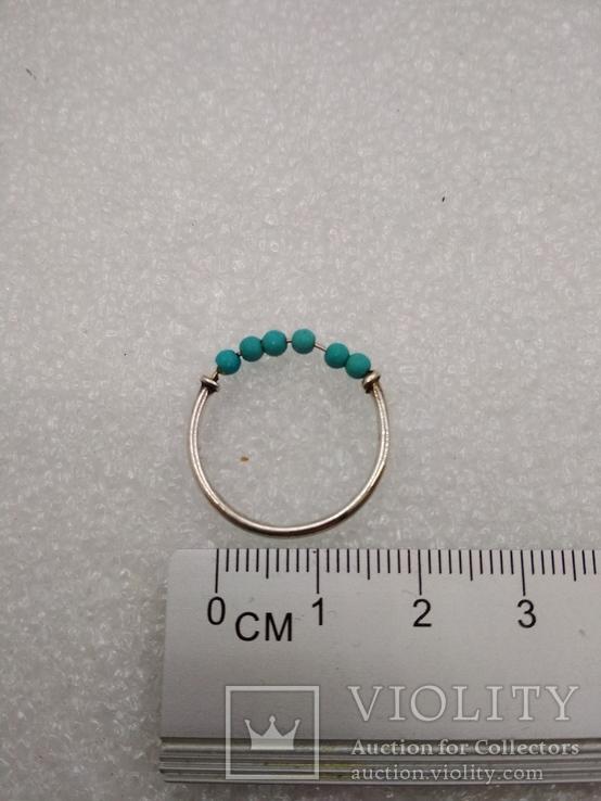 Кольцо серебро 925 бирюза