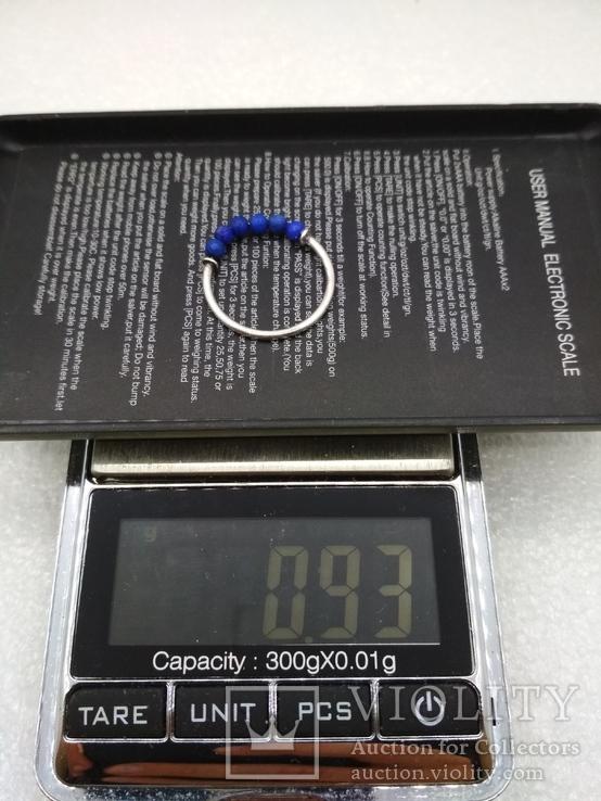 Кольцо серебро 925 лазурит, фото №4