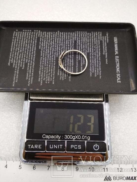 Кольцо серебро 925 листик, фото №4