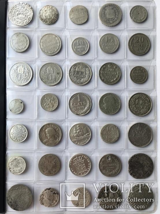 Колекція срібних монет 35 штук