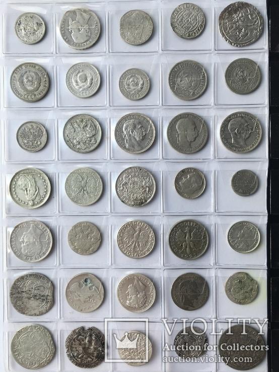 Колекція срібних монет 35 штук, фото №4