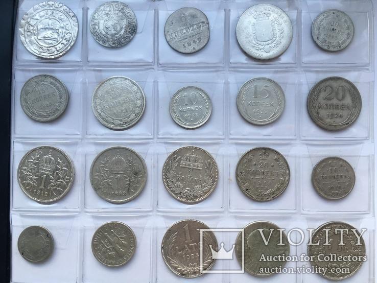 Колекція срібних монет 35 штук, фото №6