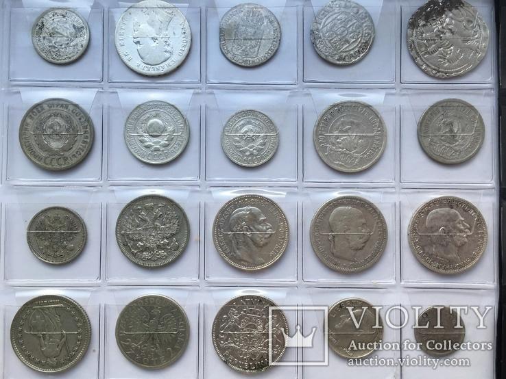 Колекція срібних монет 35 штук, фото №7