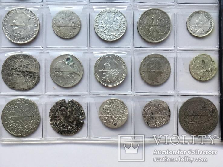 Колекція срібних монет 35 штук, фото №9