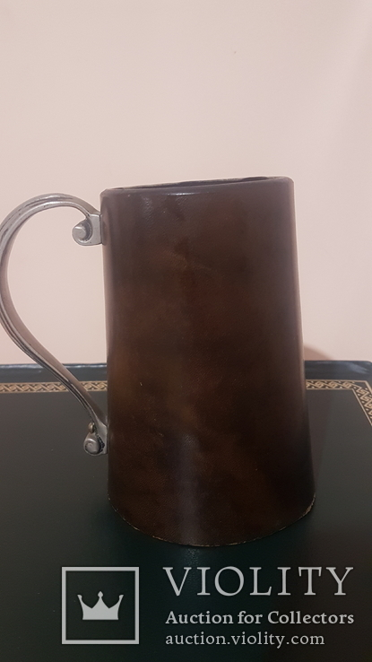 Кружка/бокал, кожаный, фото №8