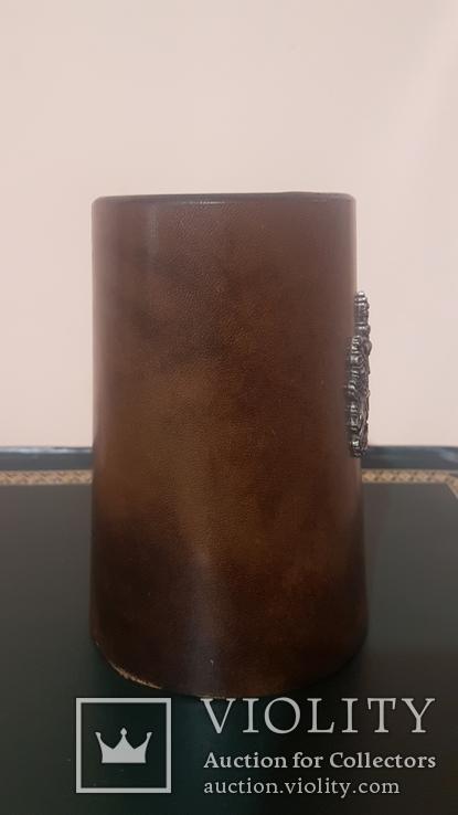 Кружка/бокал, кожаный, фото №9