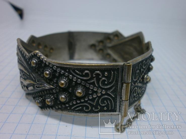 Восточный чеканный браслет с арабскими символами. Винтаж, фото №6