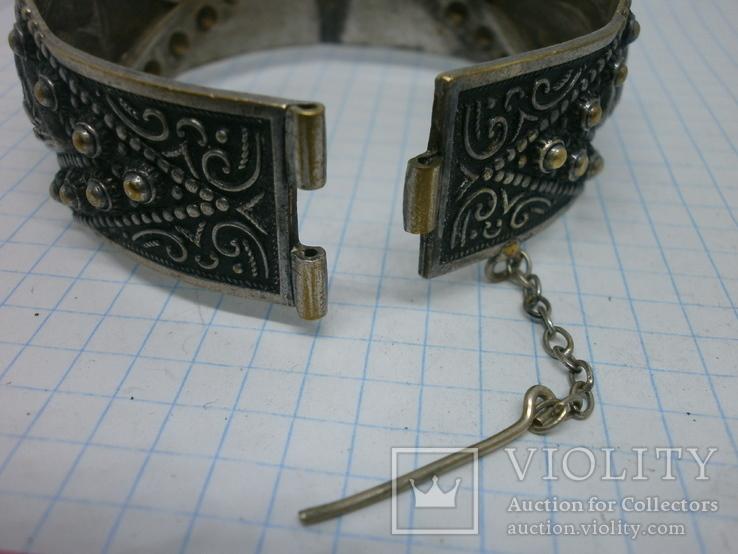 Восточный чеканный браслет с арабскими символами. Винтаж, фото №11