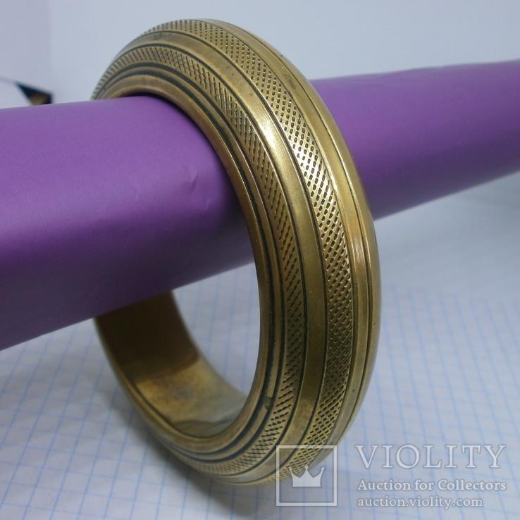 Полый латунный браслет. винтаж, фото №2