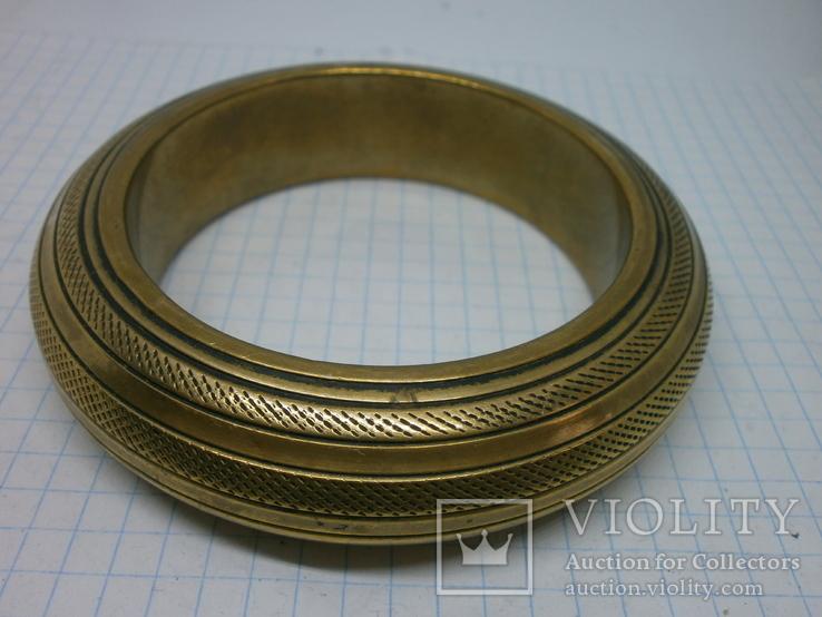 Полый латунный браслет. винтаж, фото №5