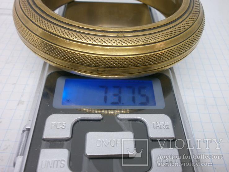 Полый латунный браслет. винтаж, фото №7