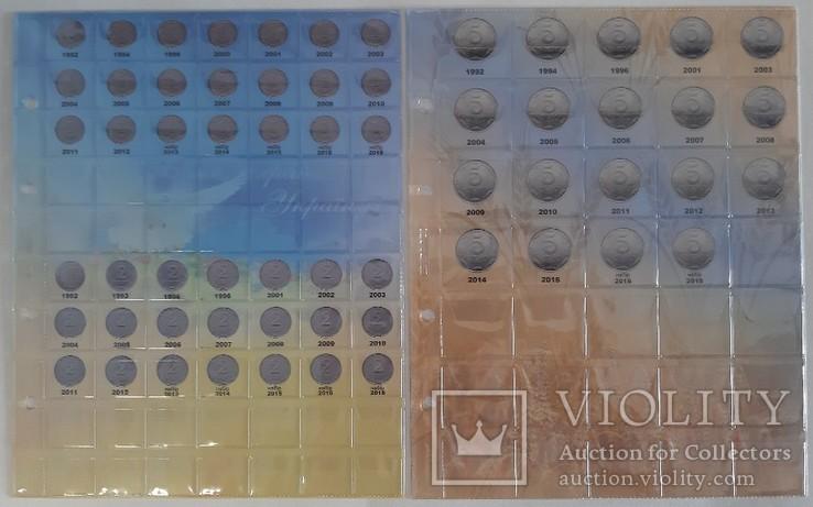 Альбом-каталог для разменных монет Украины с 1992г. (синий), фото №3