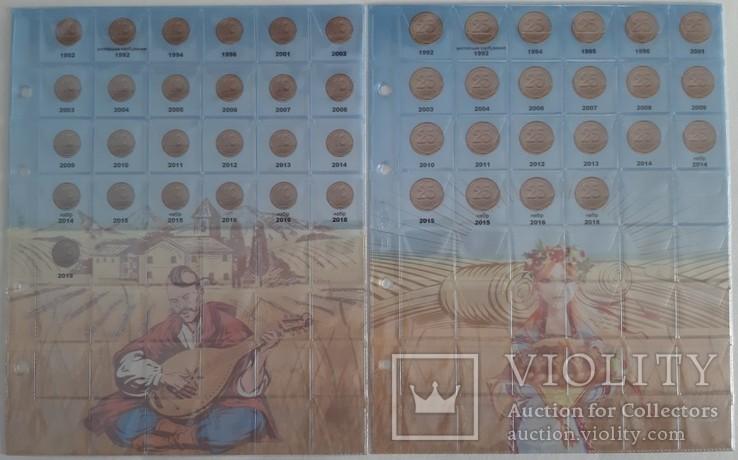 Альбом-каталог для разменных монет Украины с 1992г. (синий), фото №4