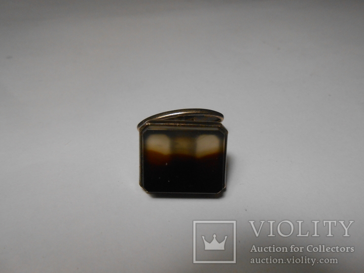 Запонка Серебро  875 со звездой Вес - 4,89 грамм, фото №4
