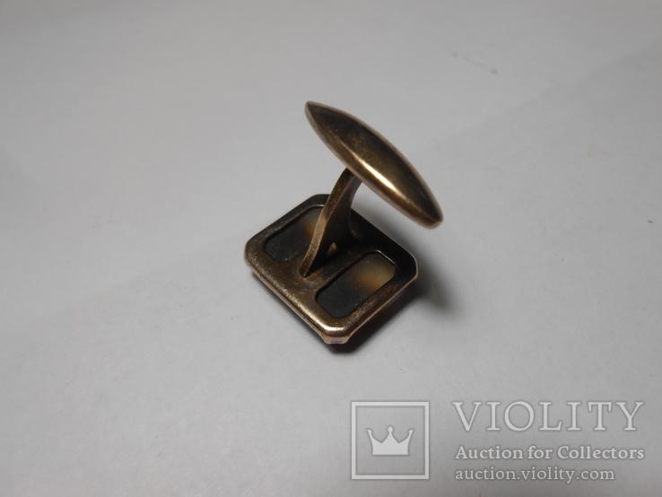 Запонка Серебро  875 со звездой Вес - 4,89 грамм, фото №9