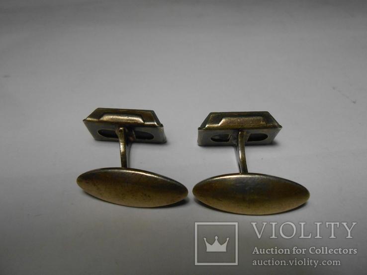 Запонки Серебро 875 с головой Вес - 7,49 грамм, фото №8