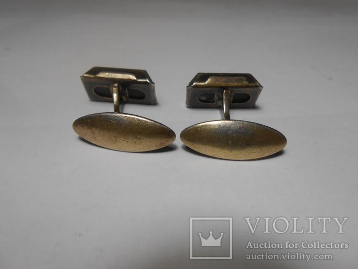 Запонки Серебро 875 с головой Вес - 7,49 грамм, фото №9