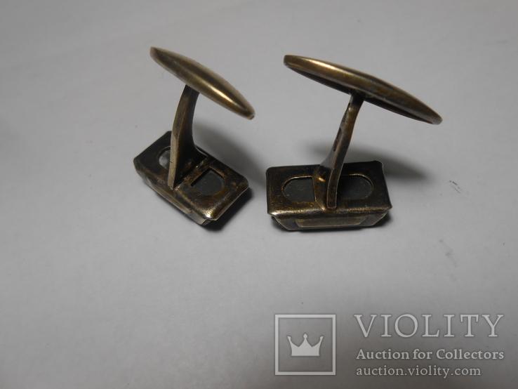 Запонки Серебро 875 с головой Вес - 7,49 грамм, фото №11