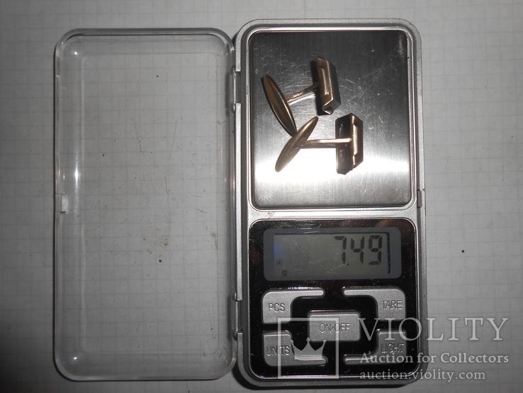 Запонки Серебро 875 с головой Вес - 7,49 грамм, фото №13