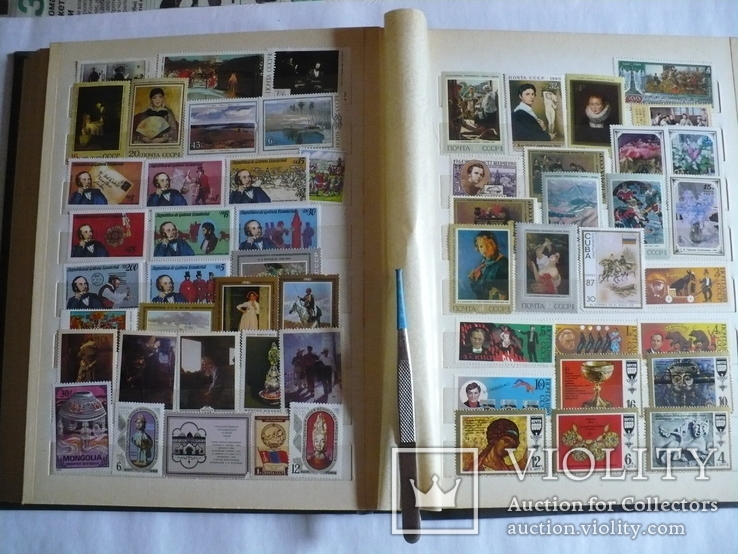 Альбом с марками искусство стран мира MNH(**), фото №9