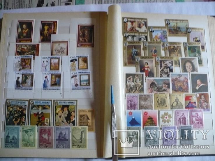 Альбом с марками искусство стран мира MNH(**), фото №11
