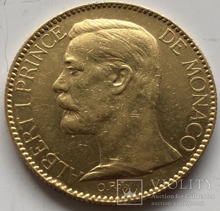 100 франков 1904 год Монако золото 32,22 грамма 900'