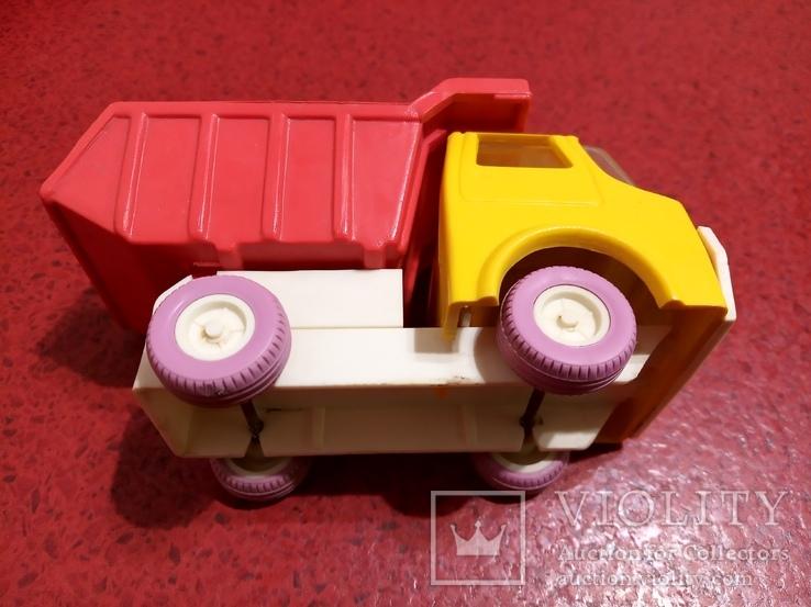 Винтажная Детская Игрушка Ссср машинка - грузовик- самосвал. Донецкий Зи., фото №7