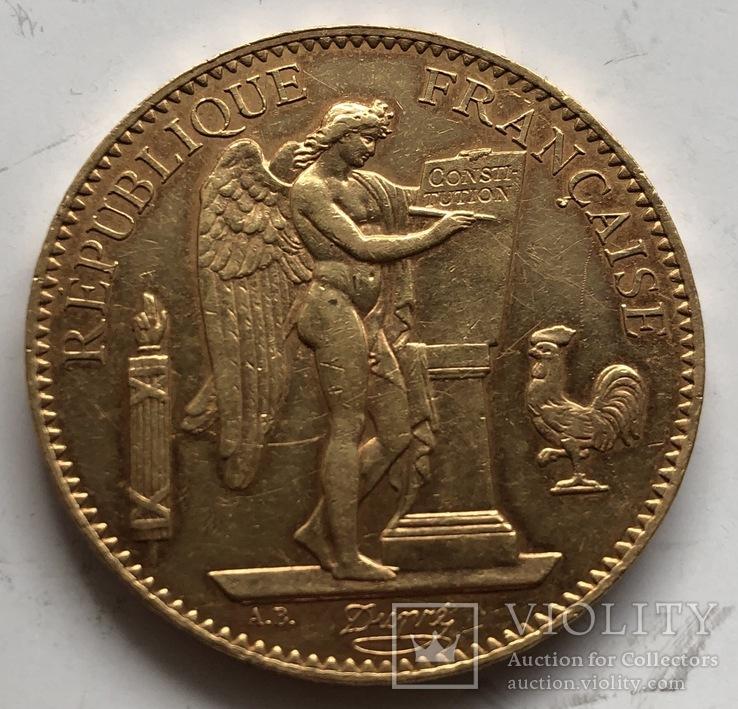 100 франков 1908 год Франция золото 32,23 грамма 900'