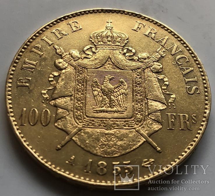 100 франков 1855 год Франция золото 32,23 грамма 900', фото №4