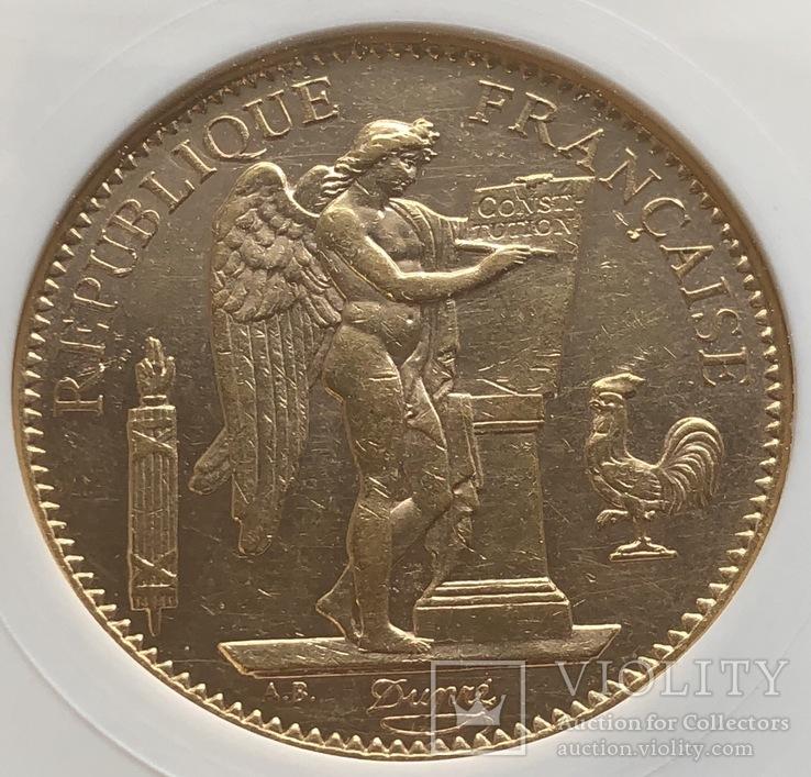100 франков 1908 год Франция золото 32,23 грамма 900', фото №4