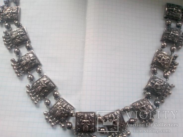 Ожерелье серебро, фото №2