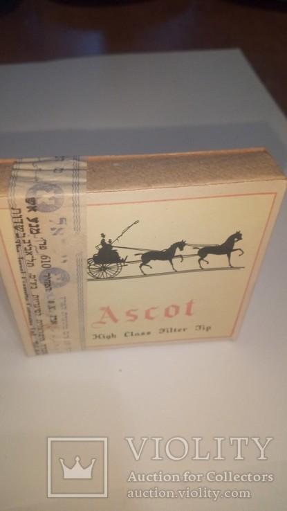 Сигареты 1958 Ascot Тель-Авив Полная запечатанная пачка Сертификат состава смеси, фото №2
