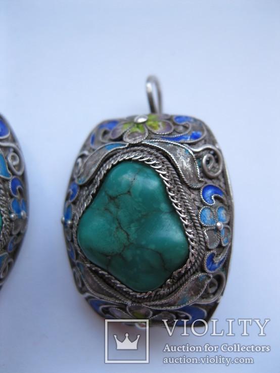 Серебряные серьги, фото №4