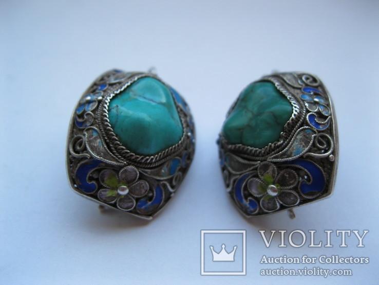 Серебряные серьги, фото №12
