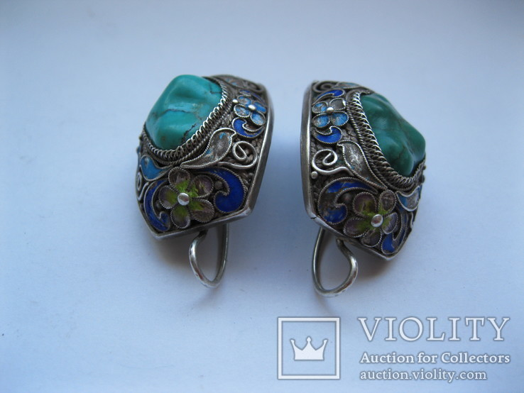 Серебряные серьги, фото №13