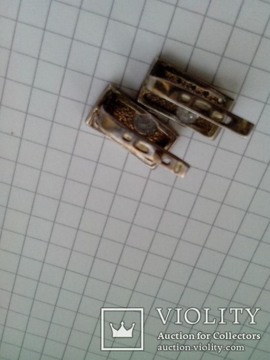 Кольцо и серьги, серебро и золото, фото №5