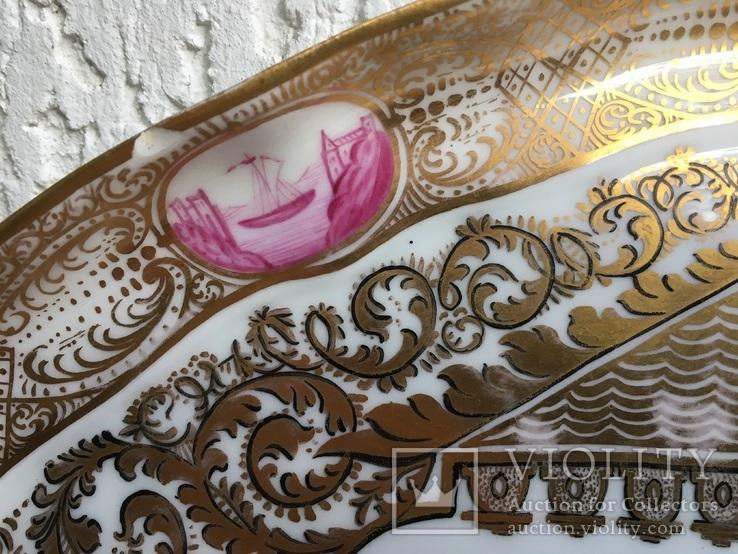 Блюдо.Мейсен.Ручная роспись с двумя китайцами, фото №7