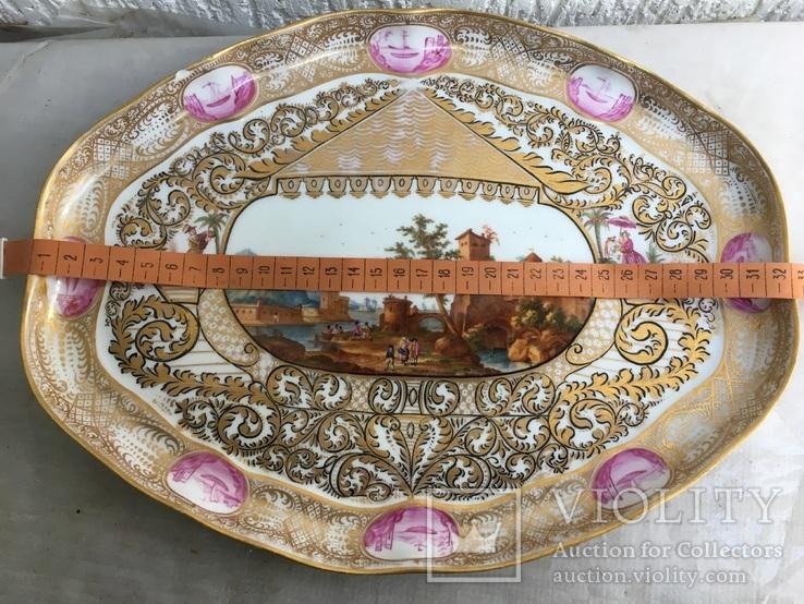 Блюдо.Мейсен.Ручная роспись с двумя китайцами, фото №12