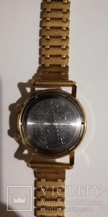 Часы-будильник PRIMUS ALARM, позолочен, экспорт, СССР... ау 20., фото №5