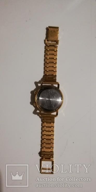Часы-будильник PRIMUS ALARM, позолочен, экспорт, СССР... ау 20., фото №6