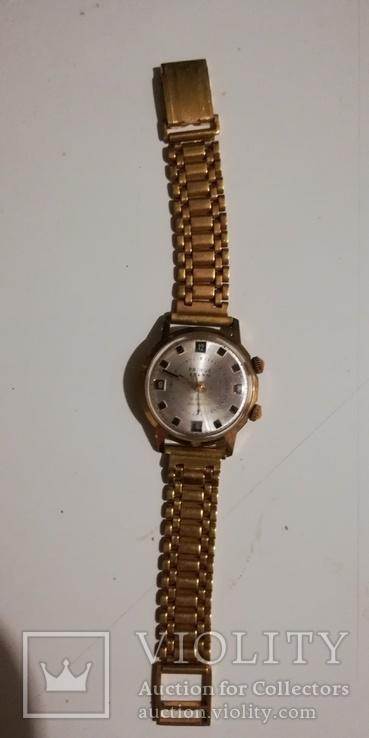 Часы-будильник PRIMUS ALARM, позолочен, экспорт, СССР... ау 20., фото №7