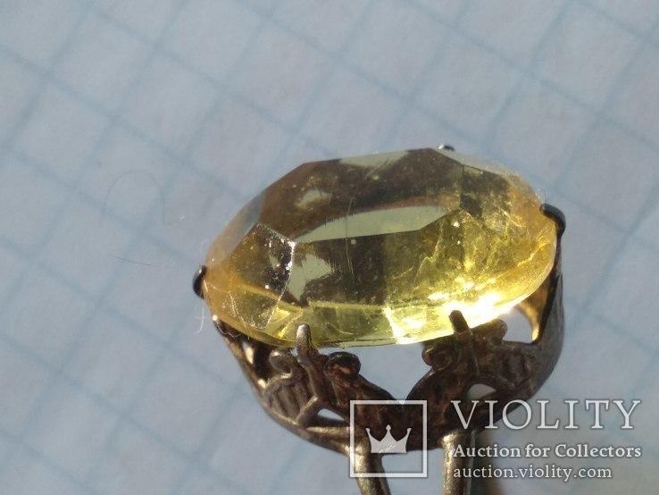 Набор серебро, кольцо и серьги, 875, фото №5